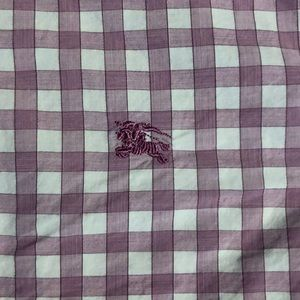 Authentic Burberry Brit gingham button down, L